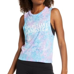 Spiritual Gangster Varsity Tie Dye Active Tank